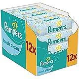 Pampers - Fresh Clean - Lingettes Bébé - 12 Paquets de 64 (x768 Lingettes)