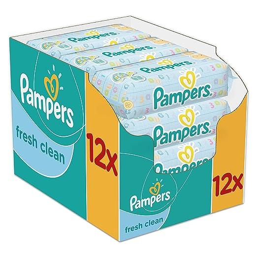 274 opinioni per Pampers, Salviette umide Fresh Clean, confezione mensile doppia, 768 pz. (12