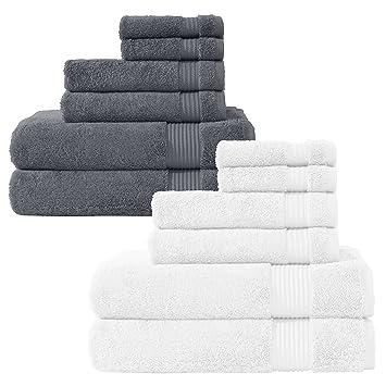 Premium 12 piezas Juego de toallas de baño – baño completo set, fabricado con 100