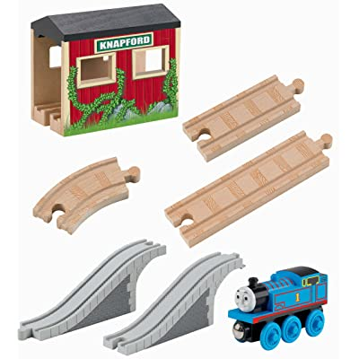 Fisher-Price Thomas & Friends Wooden Railway, 5-in-1 Up and Around Set: Toys & Games