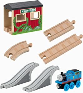 Fisher-Price Thomas & Friends Wooden Railway, 5-in-1 Up and Around Set