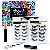 Magnetic Eyelashes Kit, 2020 New upgrade 10 pairs No Glue Needed,3D Faux Mink Lashes Cross Fluffy Soft Natural Eyelashes…