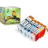Ink Hero 5 Pack Cartridges for CLI-8 PGI-5 PIXMA iP4200 iP4300 iP4500 iP5200 iP5200R MP500 MP530 MP600 MP610 MP800 MP800R MP810 MP830 MP950 MP960 MP970 MX850 printer inks for inkjet