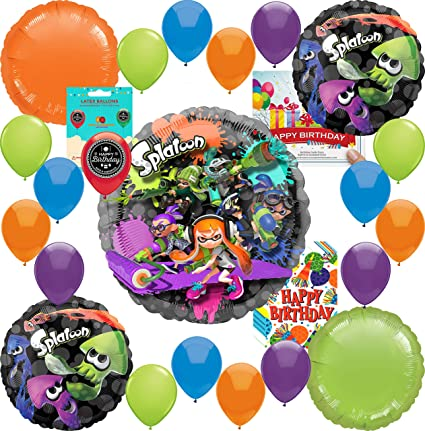 Amazon.com: Splatoon Party Supplies - Globo de cumpleaños ...