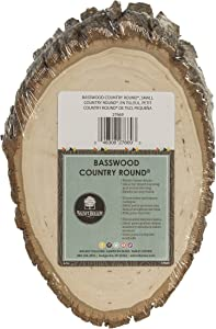 Walnut Hollow 27669Basswood Country Round, Small for Woodburning, Home Décor and Rustic Weddings