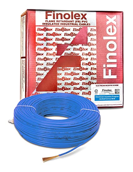 Finolex 2.5-Sqmm FR PVC Insulated Cable (Blue, 90 Mtr)
