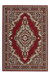 Lalee 347055326 - Tappeto classico stile orientale, 190 x 280 cm, colore: Beige, Rot, 80 x 250 cm