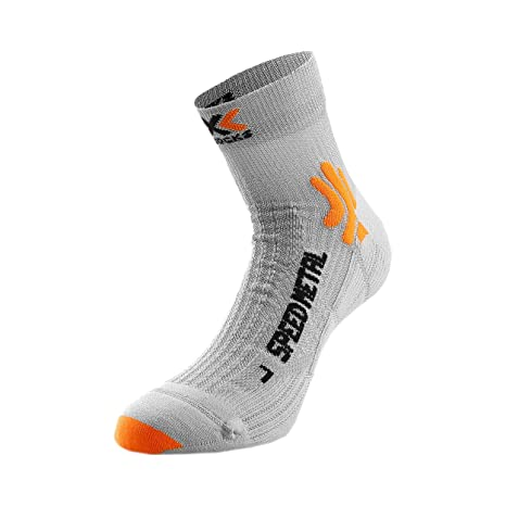 X-Socks Unisex Speed Metal Socks Unidad Ropa Sport Calcetines Gris – Naranja 39 –