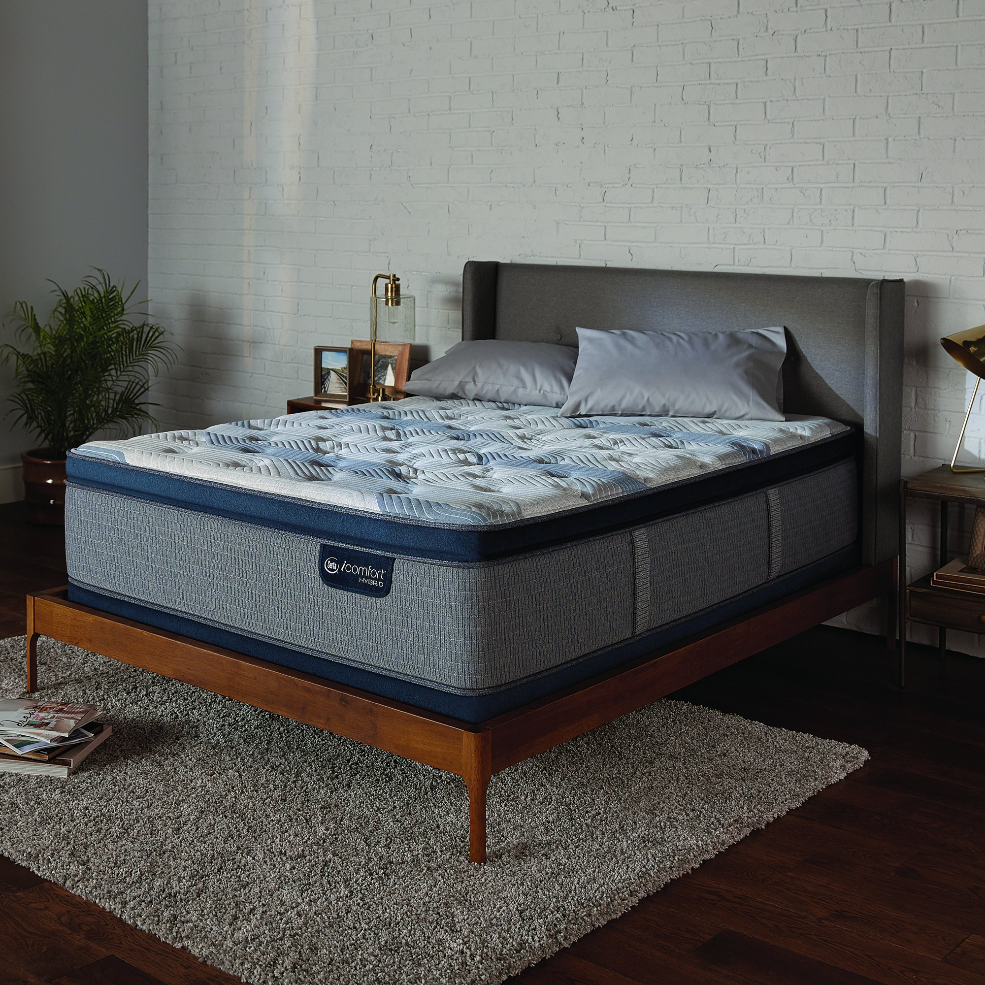 Serta Icomfort Hybrid Bed Mattress Conventional, King, Gray by Serta