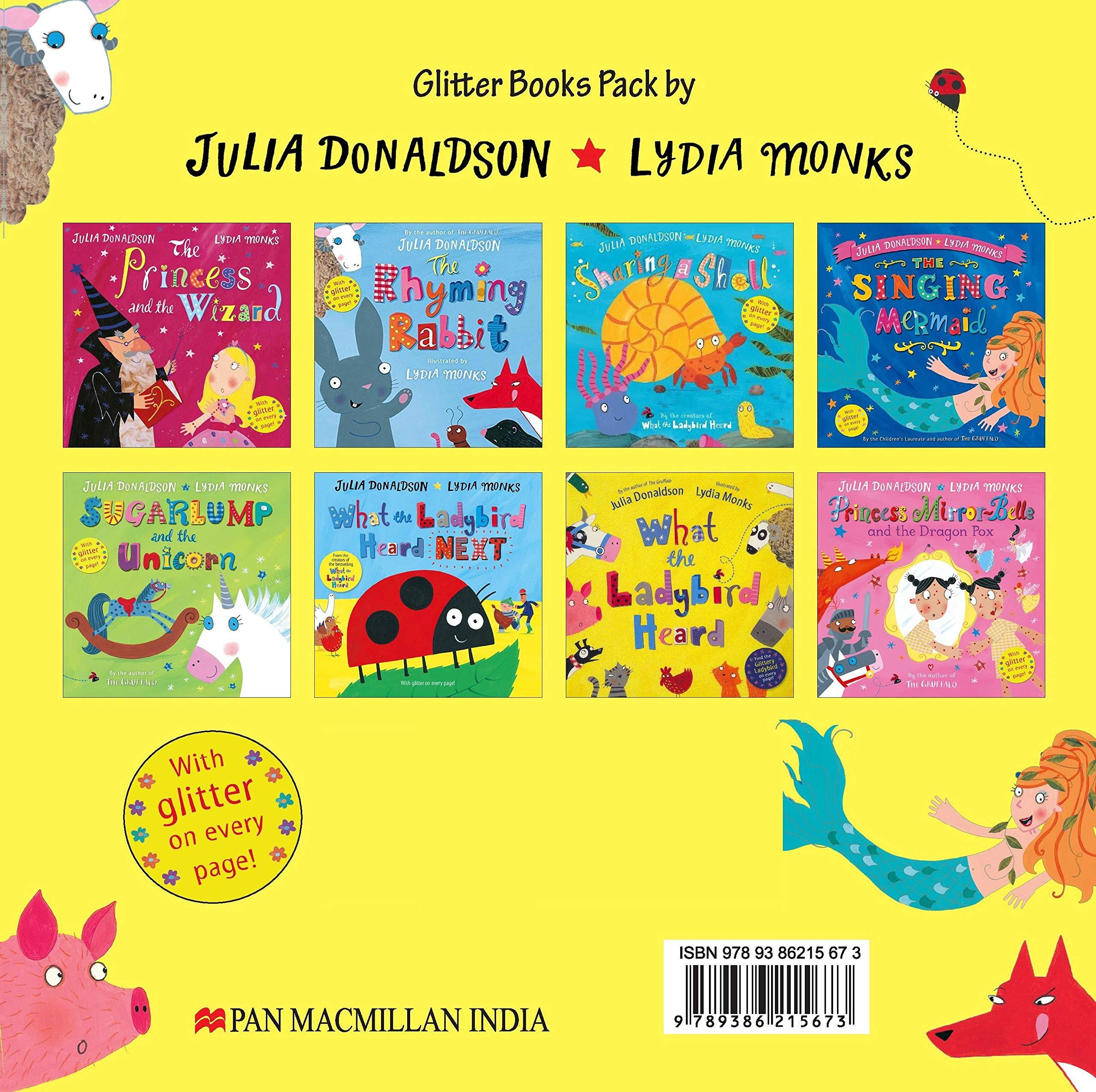 Julia Donaldson and Lydia Monks x 8 Glitter Books Pack: Amazon.es ...