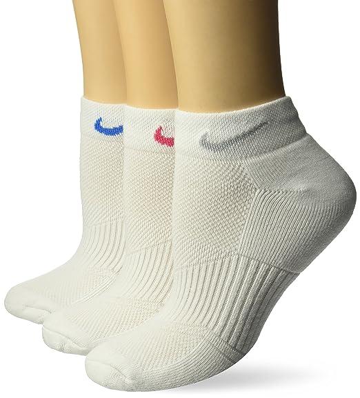 1c7e5a524575b3 NIKE Women's Performance Cushion Low Cut Training Socks (3 Pairs), White,  Small