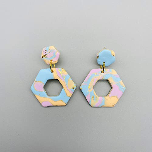 gift for women Life is color polymerclay statement lightweight jewelry handmade earrings made in Italy hypoallergenic stainless steel