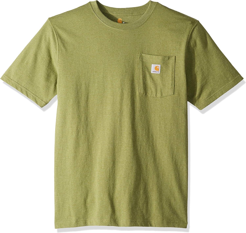 Carhartt Work Wear Pocket T-Shirt Steel Blue Stripe K87 976