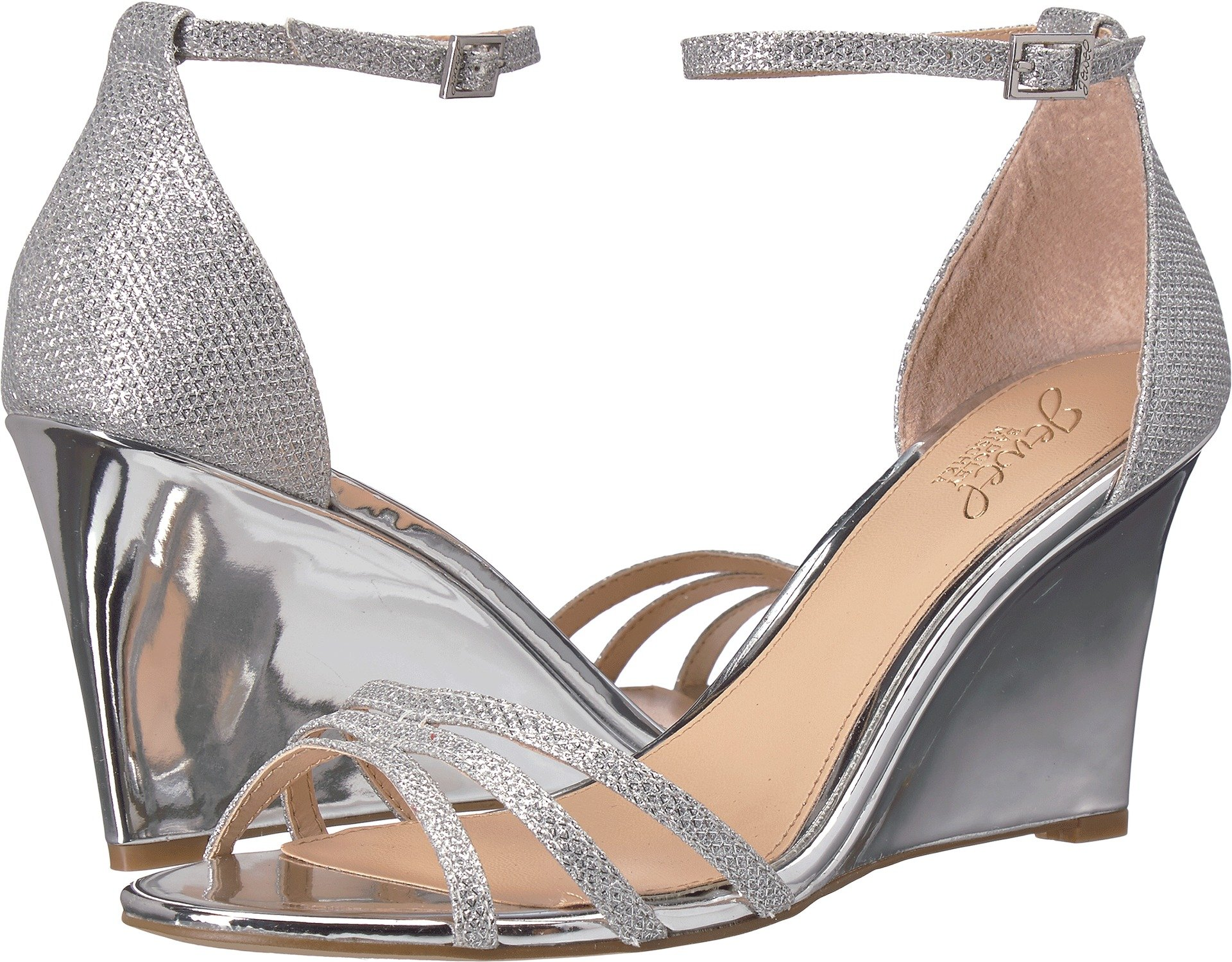 Badgley Mischka Jewel Women's Antonette Silver 8 M US