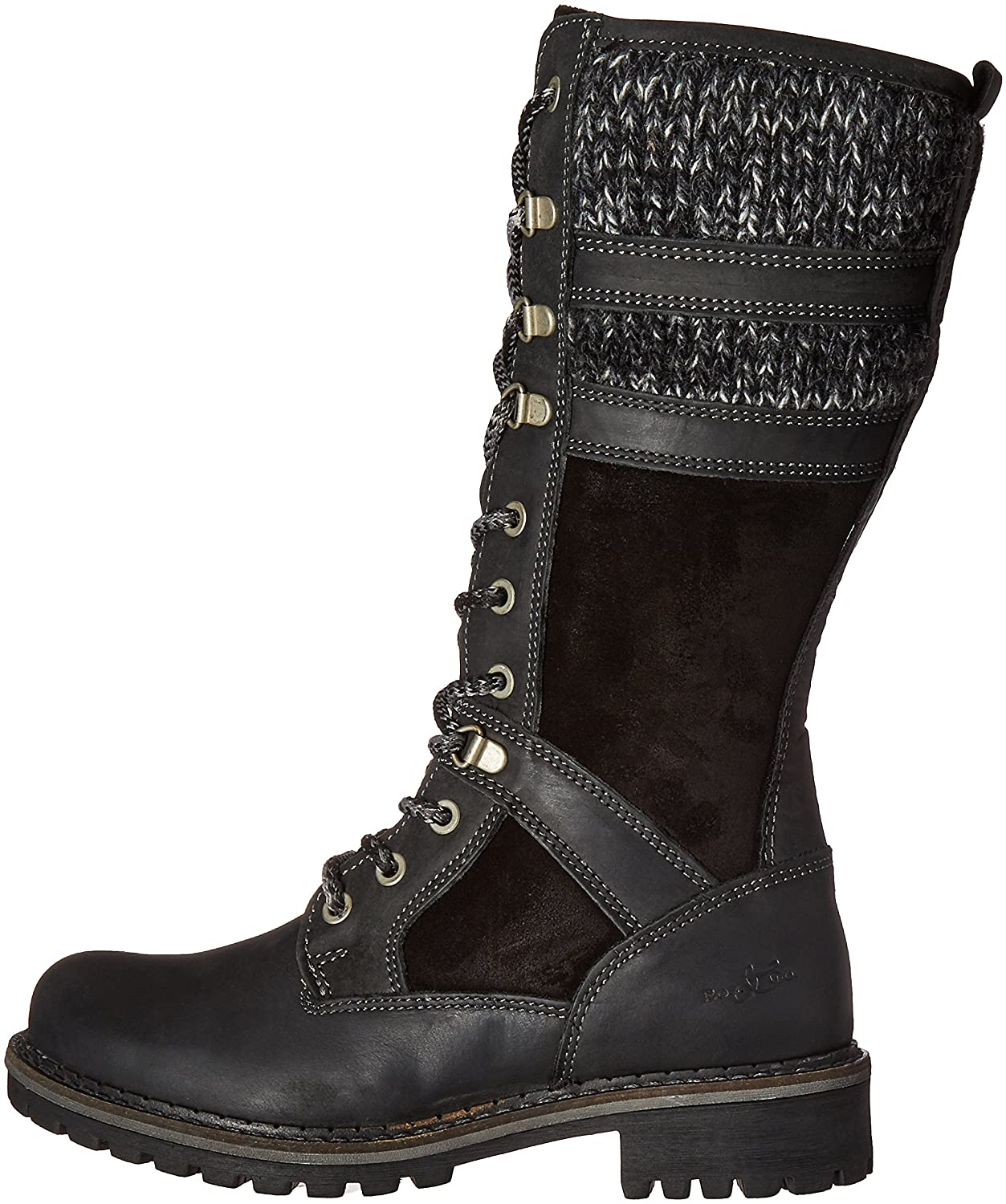 Bos. & Co. Women's Holding M Snow Boot B01DIOODIE 41 M Holding EU (10-10.5 US)|Black Cromagnum/Oilsuede/Sweater c15ba4