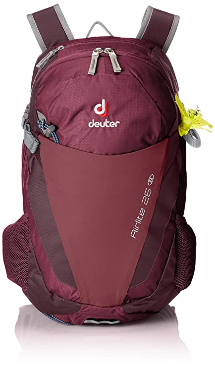 0259b9fdfc3 Deuter Airlite 26 SL Ultralight Day Hiking Backpack, BlackBerry/Aubergine