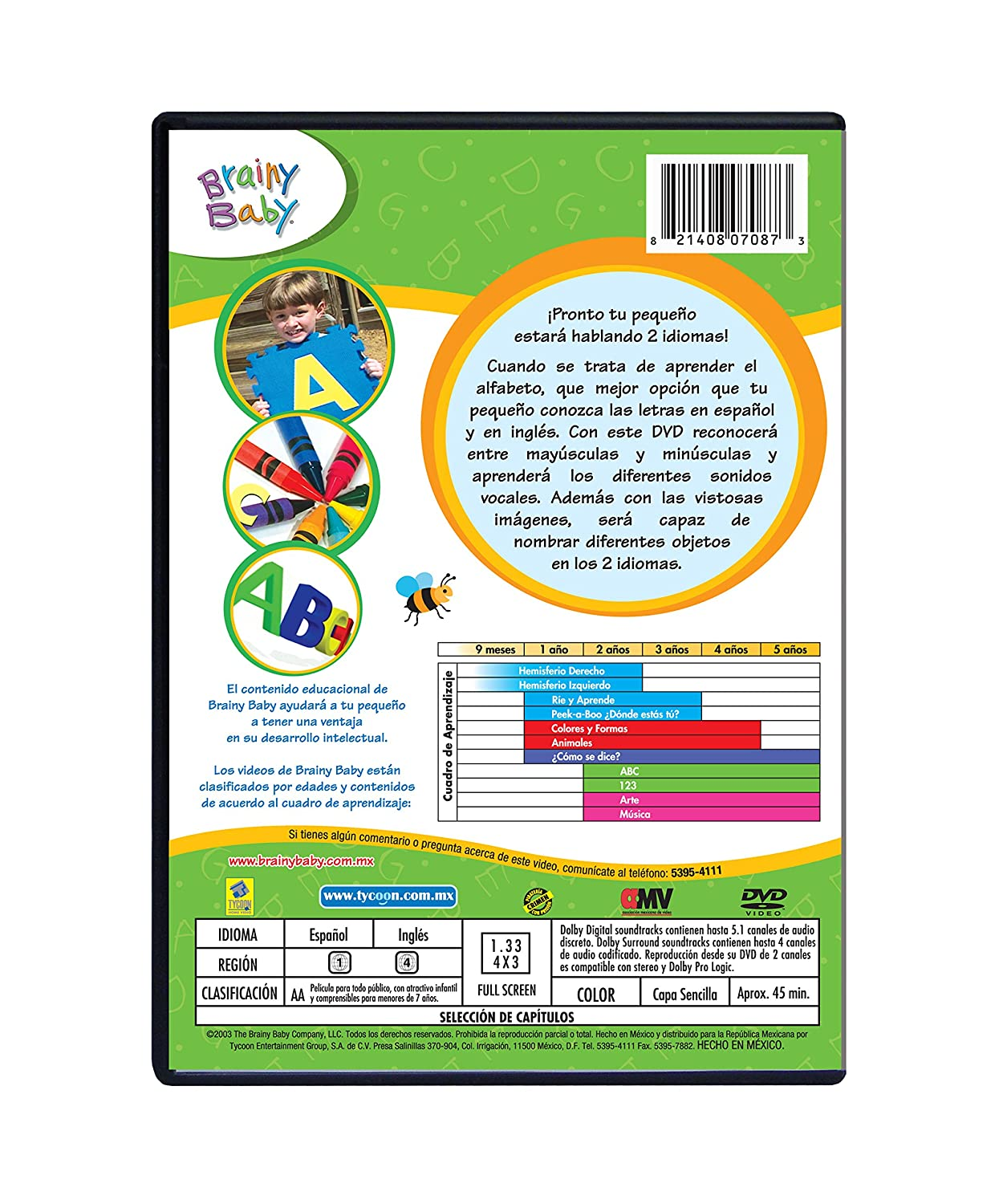 Amazon Spanish Brainy Baby ABCs DVD BabyR Movies TV