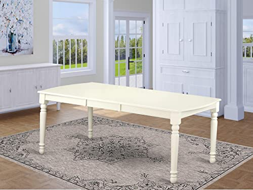 Dover Dining Room table with 18 Butterfly Leaf -Linen White Finish.
