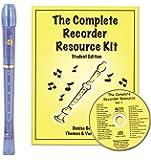 Harmony Renaissance H403B Soprano Recorder Blue Translucent with Complete Recorder Resource Kit 1