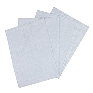 Set of 4 Placemat, Heavy Chambray, 100% Cotton, Eco Friendly and Safe, Suitable for all House Hold Ovens, Petrol, Size 13 X19 , Product of Cote De Amor