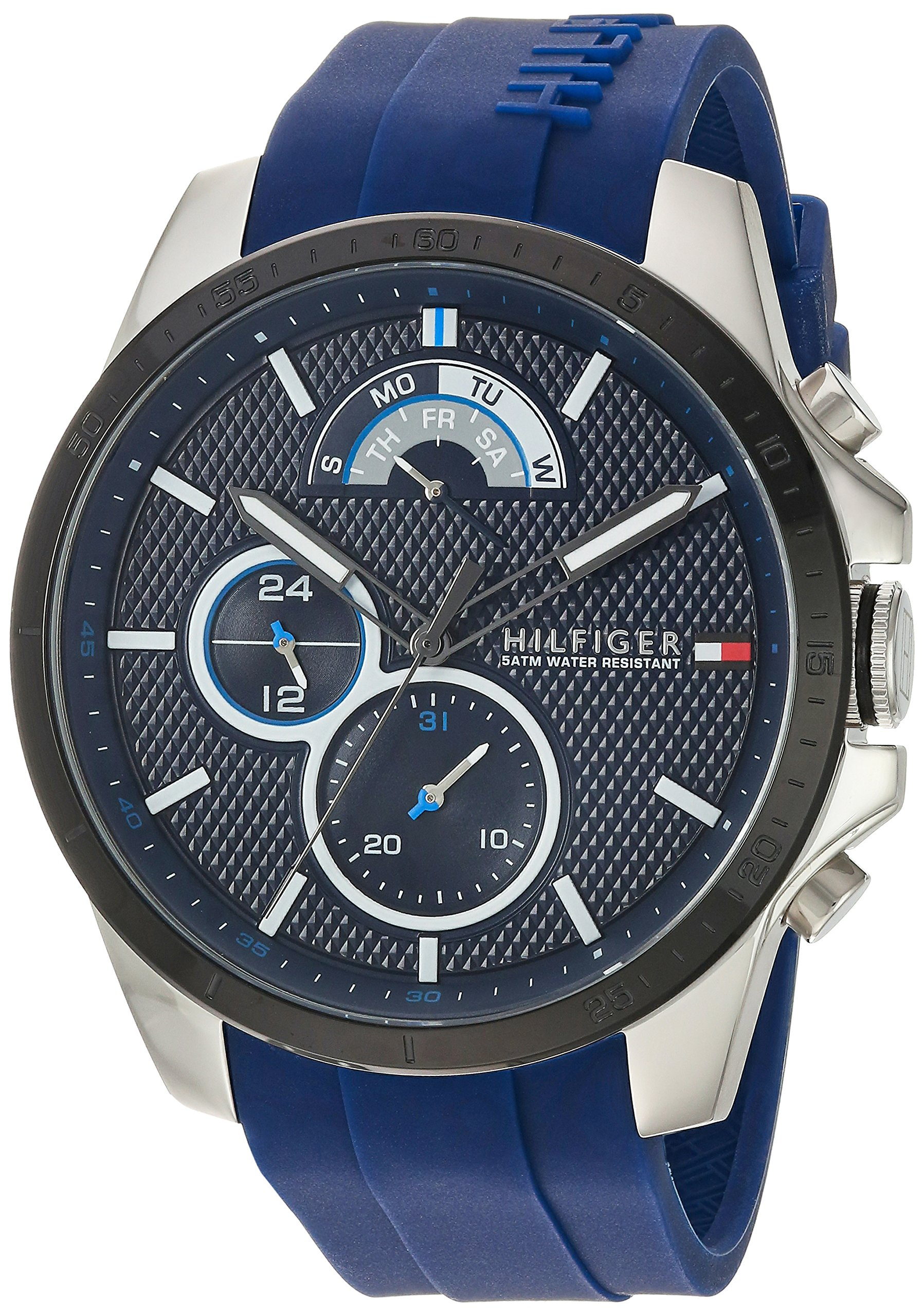 Tommy Hilfiger Men's 'COOL SPORT' Quartz Stainless Steel and Silicone Casual Watch, Color:Blue (Model: 1791350) by Tommy Hilfiger (Image #1)