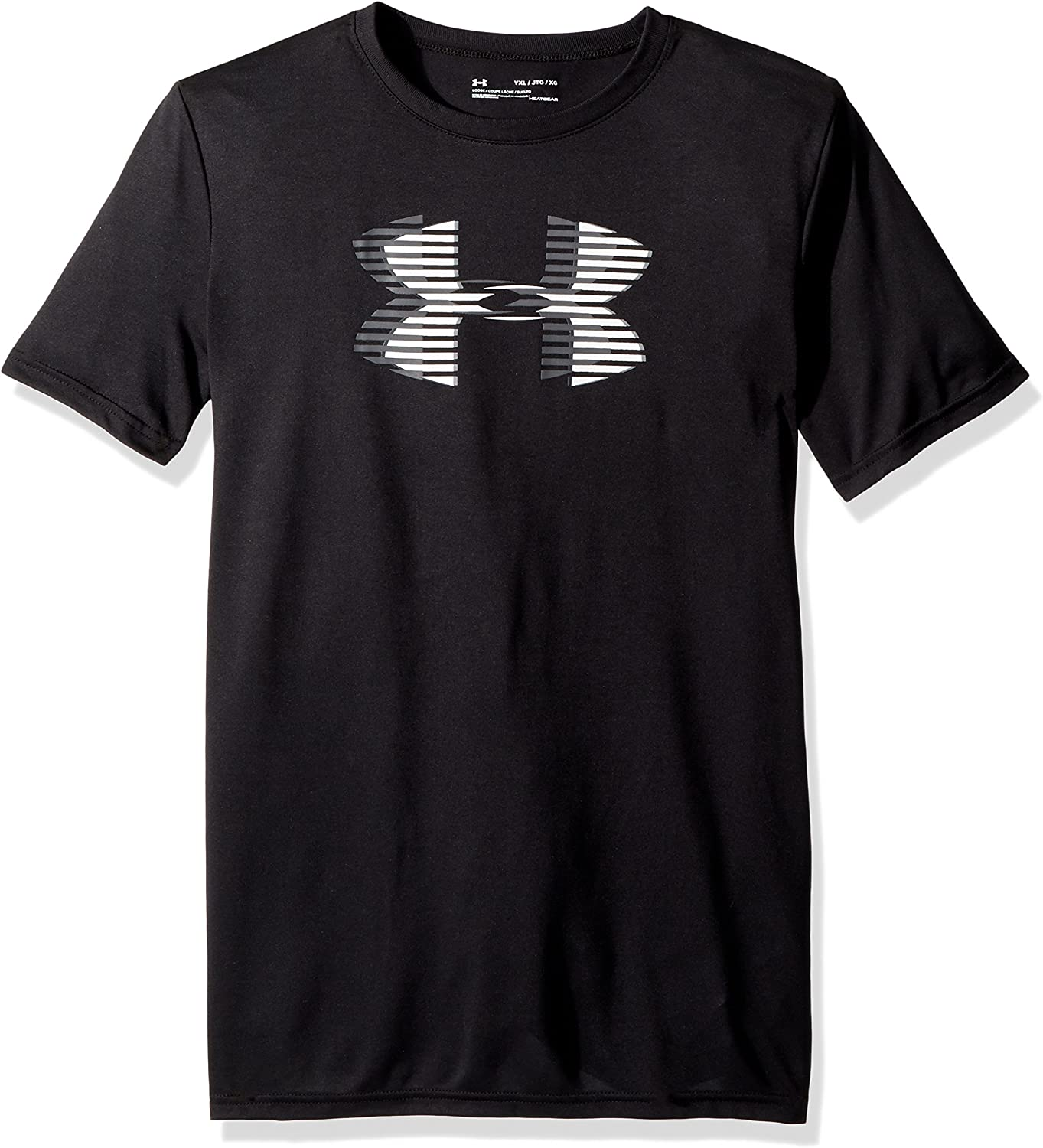 Under Armour Girls Heather Gray /& Coral Dry Fit Logo Top Size 5