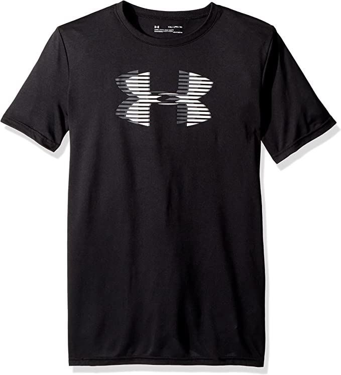 Under Armour UA Solid Big Logo SS T Black//Black//Graphite