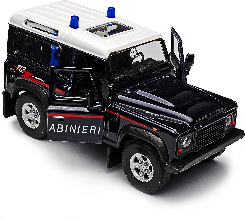 Welly Land Rover Defender 90 Blau Carabinieri 3 T/ürer ca 1//43 1//36-1//46 Modell Auto