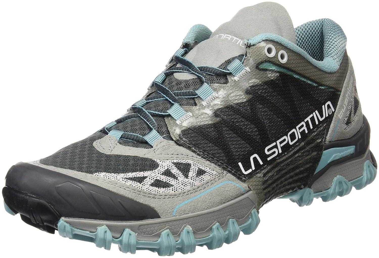 La Sportiva Women's Bushido Trail Running Shoe B00NGPXYKE 37.5 M EU|Ice Blue/Grey