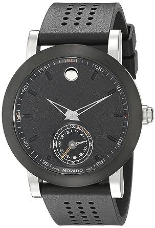Movado Men S 0660003 Analog Display Swiss Quartz Black Smartwatch