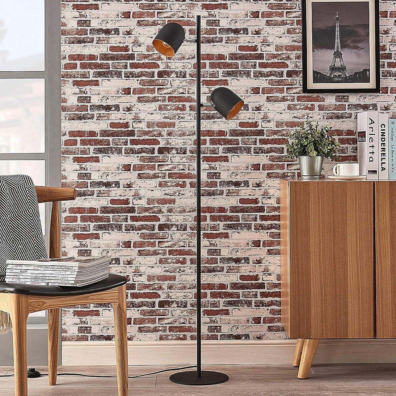Lindby Stehlampe Morik Modern In Schwarz Aus Metall U A Fur