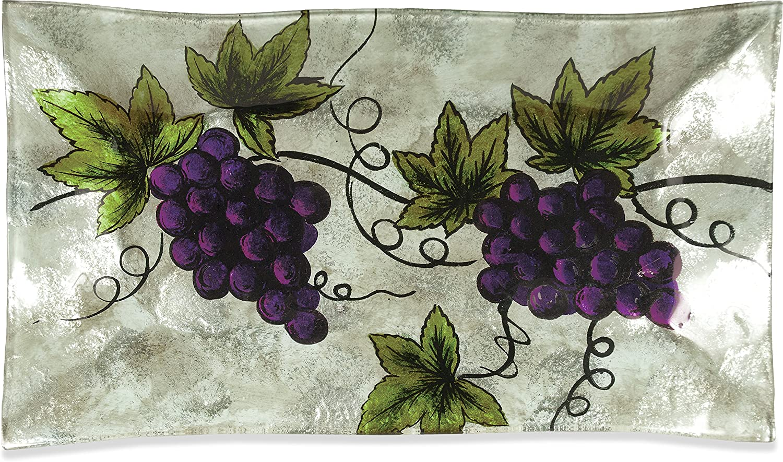 14-Inch AngelStar 19105 Vineyard Grape Rectangle Plate