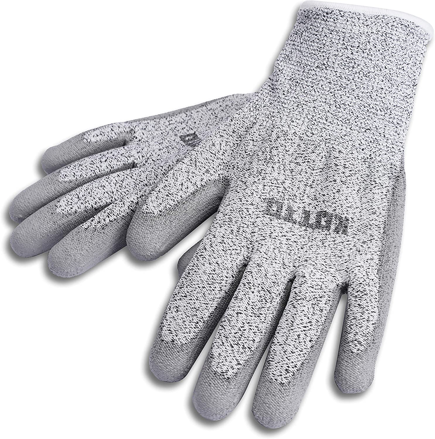 KOTTO Gardening Gloves 2 Pairs Breathable Rubber Coated Garden Gloves, Waterproof Outdoor Protective Work Gloves Extra Large Size fits Most Men Women, Grey, XL