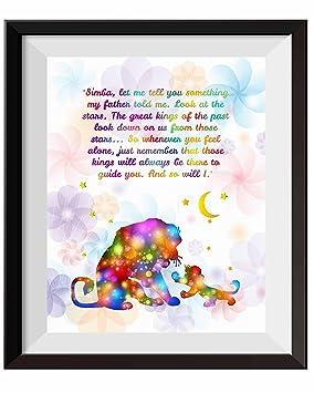 Uhomate The Lion King Simba Ornaments Home Canvas Prints