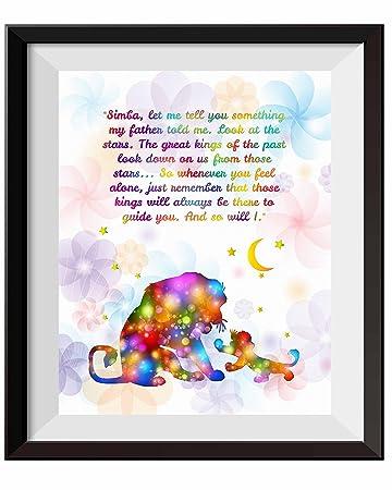 Amazoncom Uhomate The Lion King Simba Ornaments Home Canvas Prints
