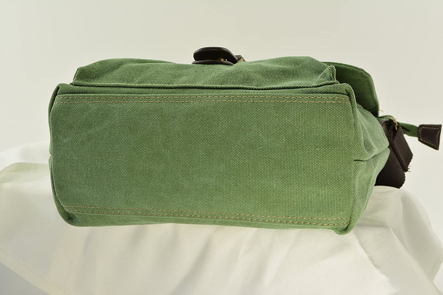 Large Semi Auto or Revolver Green Canvas Messenger Concealed Carry Bag Room for a Tablet or Laptop and More..an excellent choice for Men or Women!