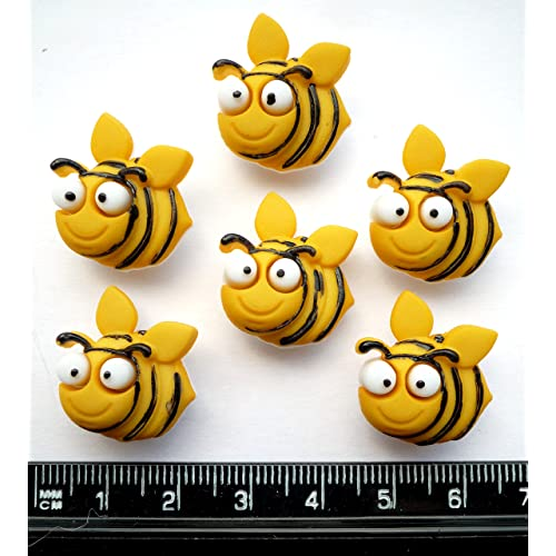 Mini 9x12mm Self Adhesive Wooden Bumble Bee Craft Card Wood Toppers