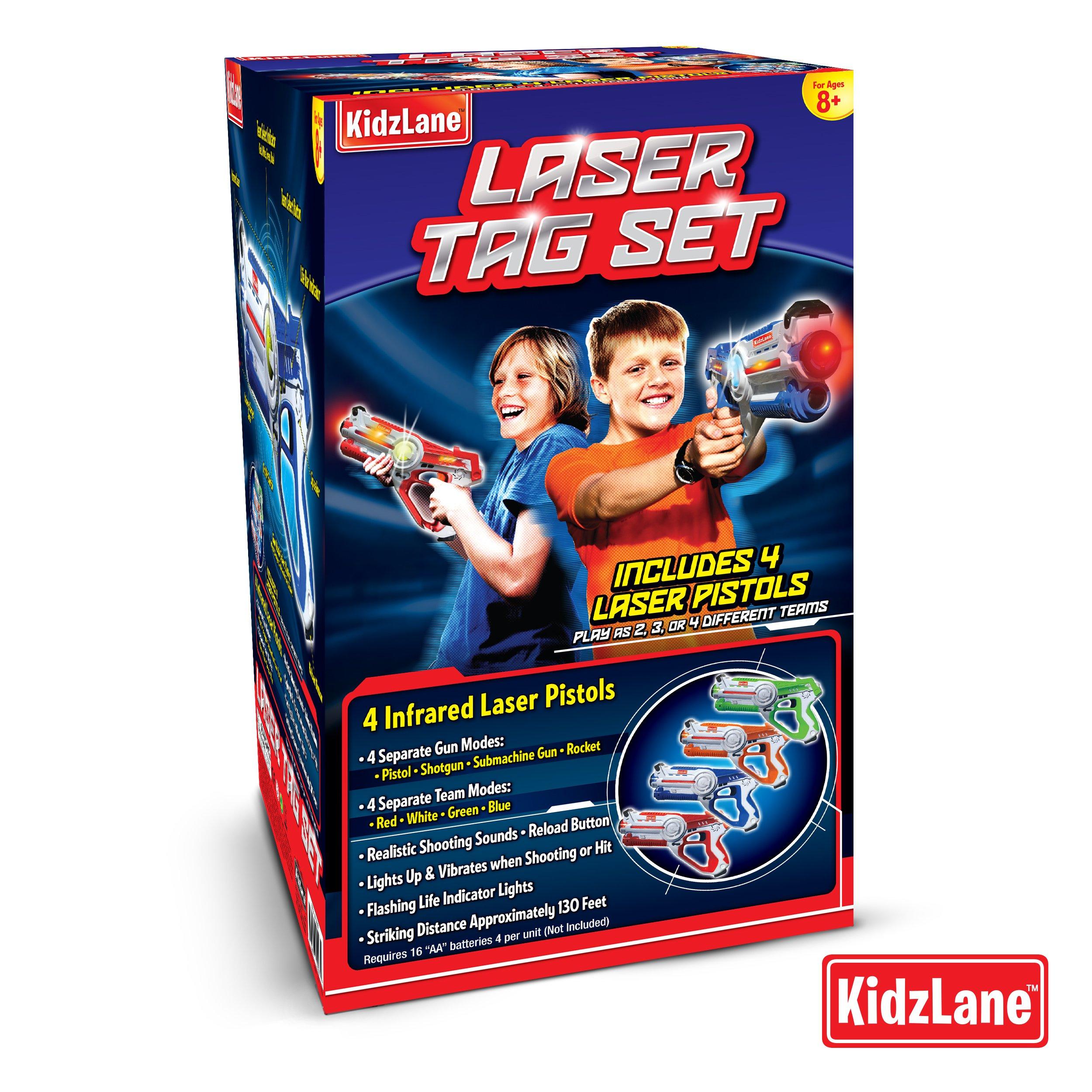 Kidzlane Infrared Laser Tag : Game Mega Pack - Set of 4 Players - Infrared Laser Gun Indoor and Outdoor Group Activity Fun. Infrared 0.9mW by Kidzlane (Image #6)