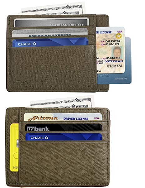Amazon.com: RFID - Tarjetero para tarjetas de crédito (piel ...