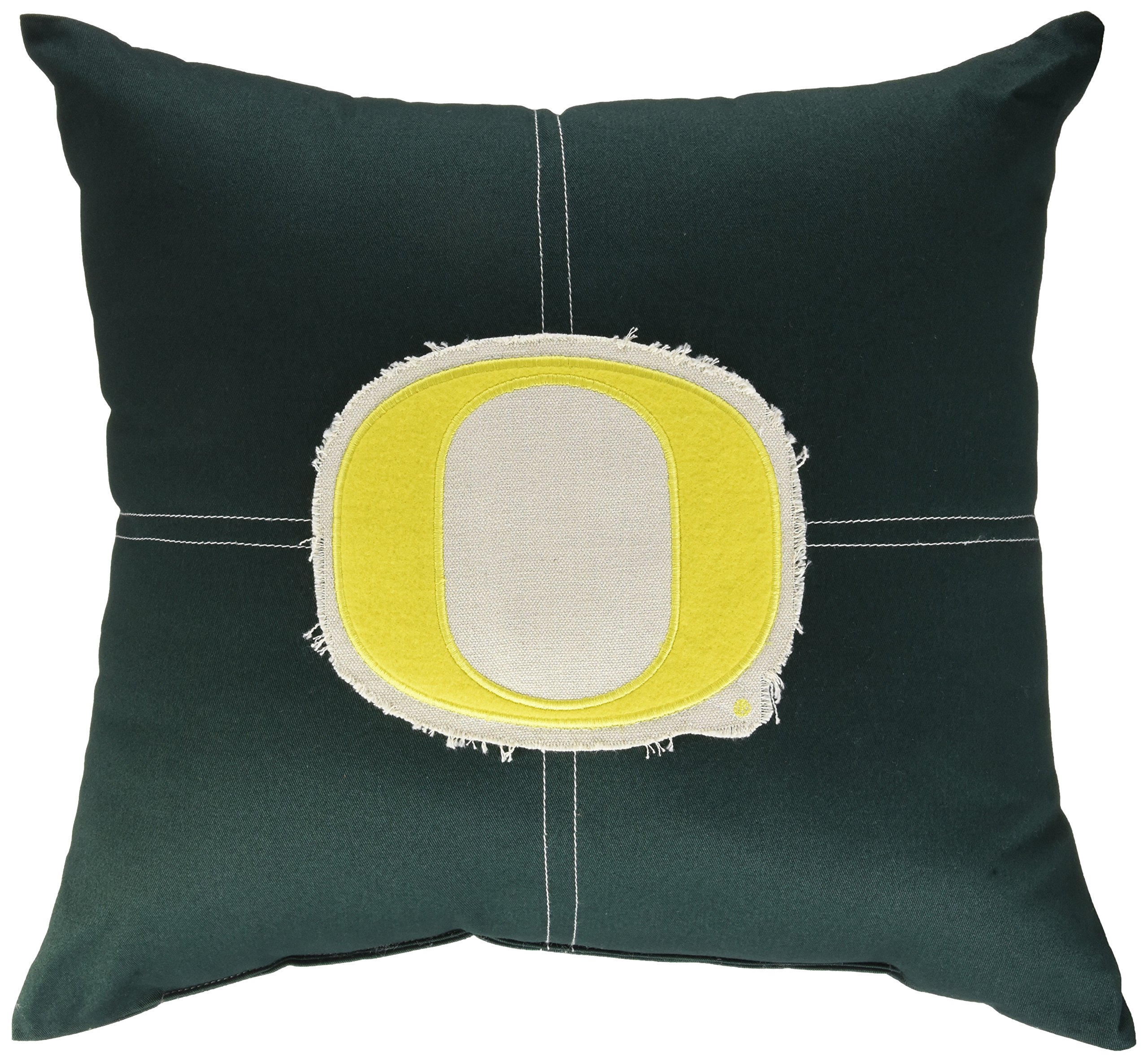 The Northwest Company Officially Licensed NCAA Oregon Ducks Letterman Pillow, 18'' x 18''