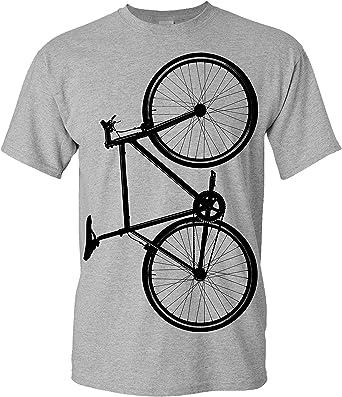 Camiseta de Bicileta: Fixie Bike - Regalo Ciclistas - Bici - BTT - MTB - BMX - Mountain-Bike - Downhill - Regalos Deporte - Camisetas Divertida-s - Ciclista - Retro Shirt: Amazon.es: Ropa y accesorios