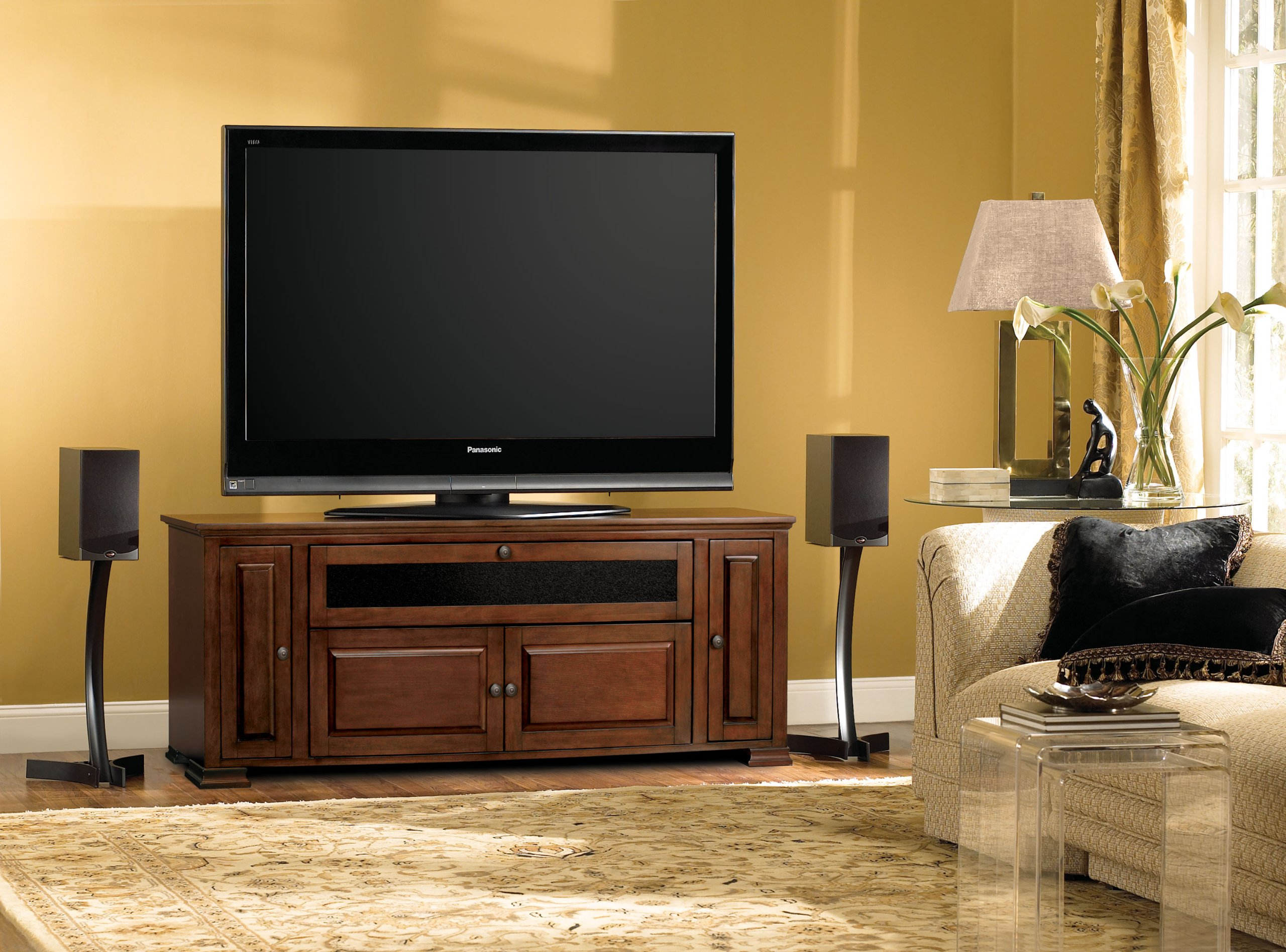 Bell'O PR33 Espresso Finished Audio Video Cabinet for 32-65 Inch Dark Brown by Bell'O