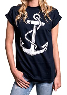 7187e21bf Oversized Anchor Top - Plus Size Clothes for Women - Casual Sailor T-Shirt