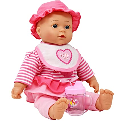 Toys & Hobbies Hearty 2018 New Cute Baby Little Girl Doll Plush Toys Child Dolls Birthday And Holiday Gift Have Good Quality And 4 Colors Can Select