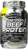 MuscleTech Platinum 100% Beef Protein, Ultra-Pure Hydrolyzed Beef Isolate, Vanilla Caramel, 2.0 lbs (907g)