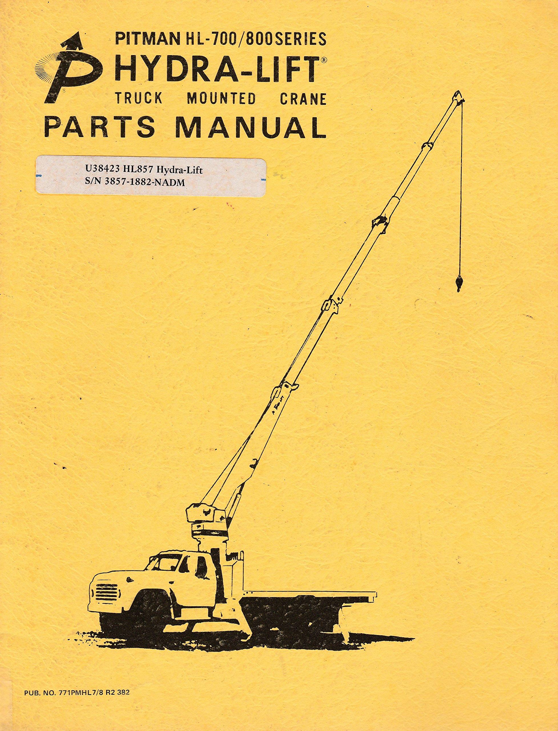 Pitman HL-700/800 Series Hydra-Lift : Truck Mounted Crane Parts