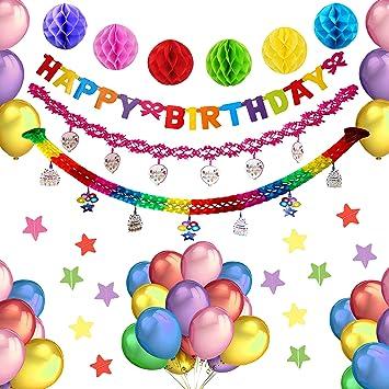 Artículos de Fiesta de decoración de cumpleaños para niños y ...