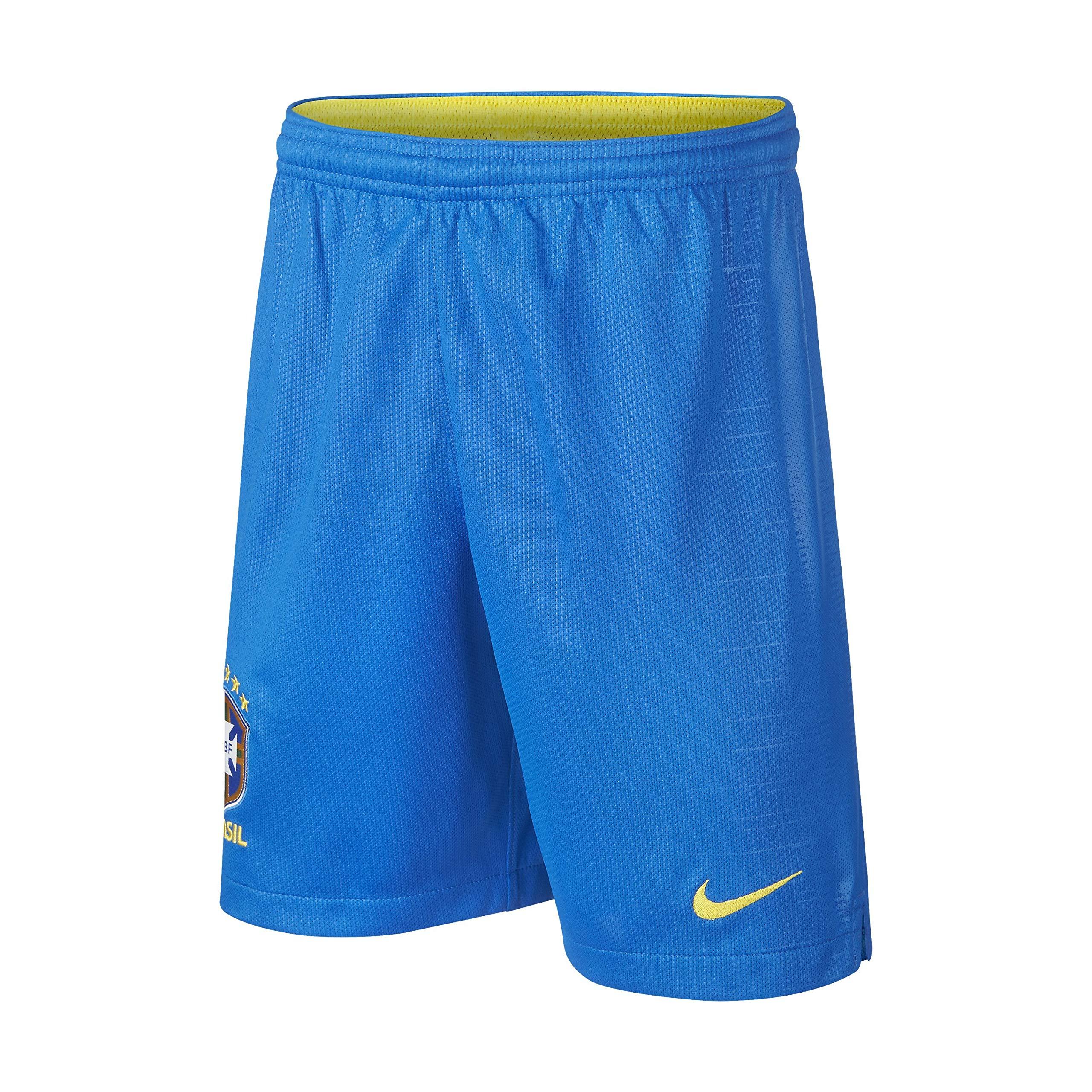 Nike Kids 2018-2019 Brazil Home Shorts, Blue, Large by Nike