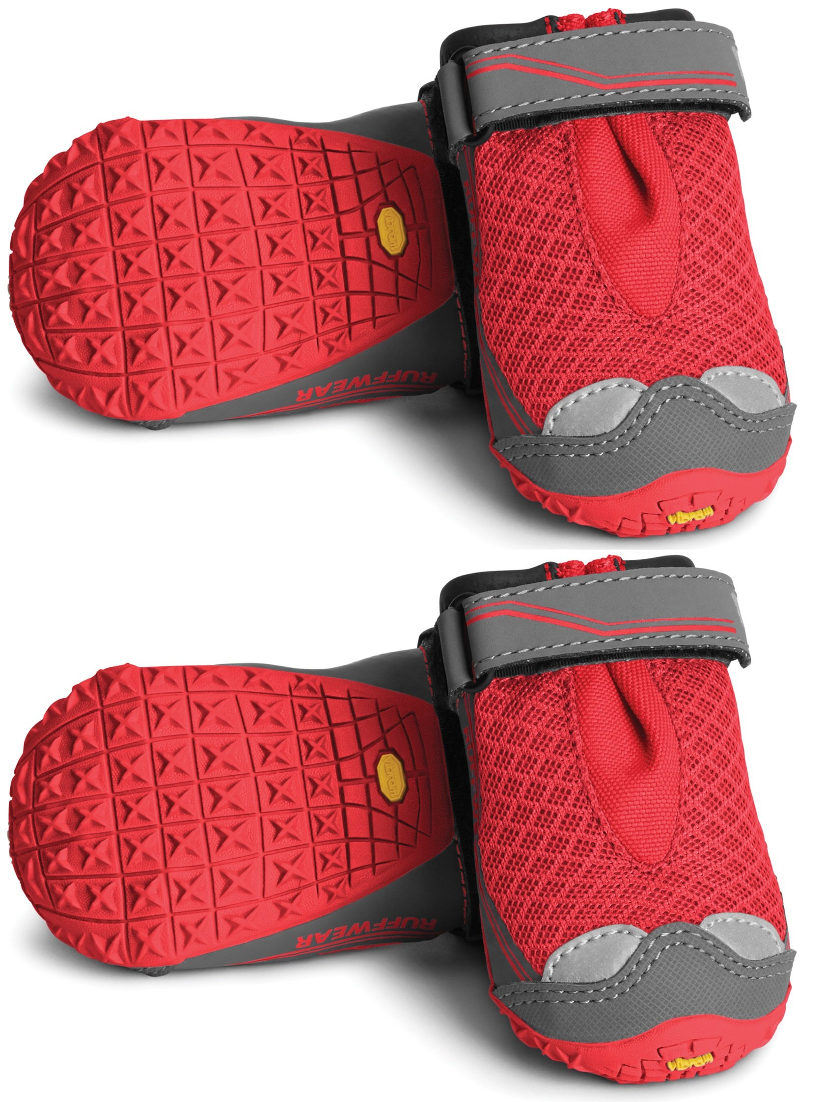RUFFWEAR Grip TREX Dog Boots All Terrain PAW Protection Colors Set of 4 (3.25-Inch, New Red Currant)