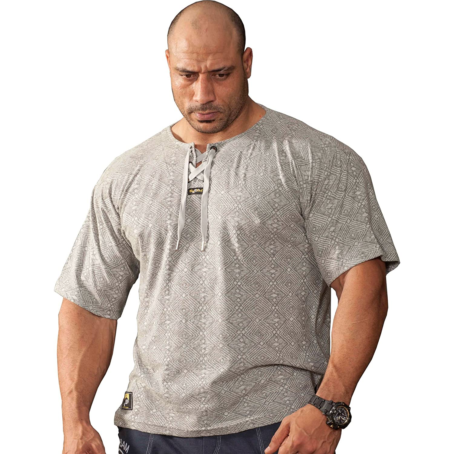 BIG SM EXTREME SPORTSWEAR Herren T-Shirt Stretch Shirt Bodybuilding Gym 2816